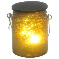 LED Mercury Glass Mason Jar