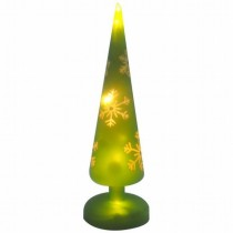 LED Painting Glass Christmas Tree Light