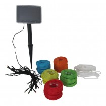 LED Solar Multi-Color Lantern String Light Set