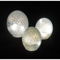 LED Vintage Painting Glass Sphere Light(Set-3)