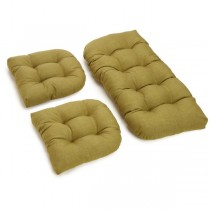 Light Brown 3 Piece U Shaped Cushion Set