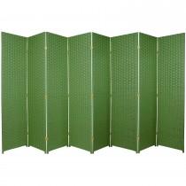 Light Green 6 Feet - Tall Woven Fiber 8 Folding Panel