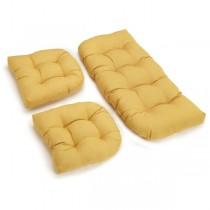 Light Yellow 3 Piece U Shaped Cushion Set