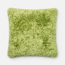 Lime Handmade Polyester Square Cushion