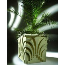 Decorative 24 Inch Square Fiberglass Planter
