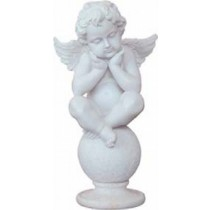 Little angel Sitting on Globe Sculpture