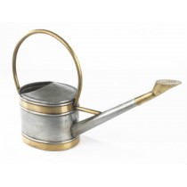 Long Oval Shaped Zinc Coated Watering Can -
