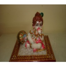 Lord Krishna Sitting on Short stool