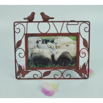 Love Sign & Bird Carving Metal Photo Frame