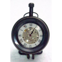 "Machine Showing Paper Weight Clock, 2"" X 3"" X 2.5"""