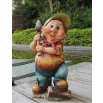 Man Holding Garden Tool Sculpture