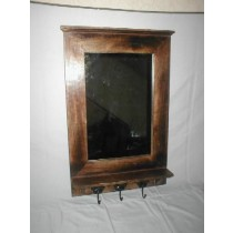 Mango Wood Mirror Frame With Deeper 3 Hooks