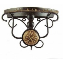 Mango Wood & Wrought Iron Decorate Wall Bracket
