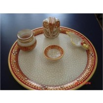 Marble Decorative complete Puja Plate