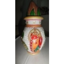 Marble Ganesha Painted Pitcher With Coconut