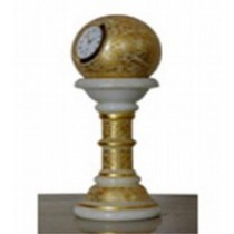 Marble With Gold Work Pedestal Watch