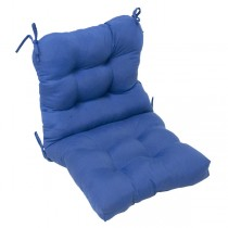 Marine Blue Durable Back Chair Cushion