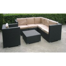 Matt Black Sofa Set