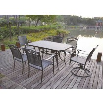 Matte Black Cast Aluminium Furniture Set