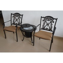 Matte Black Decorative Design Aluminium Chair