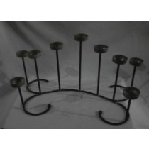 Matte Black Hand Curved Centerpiece Candle Stand