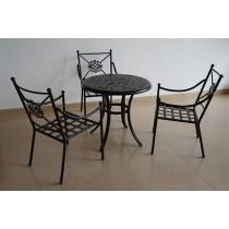 Matte Black Stylish Aluminium Table(Size 800 X 730 MM)
