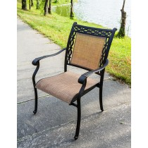 Matte Black Stylish Aluminum Sling Chair 1
