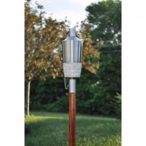 Matte Stainless Steel Finish Garden Torch