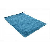 Medium-Blue Handloom Viscose carpet