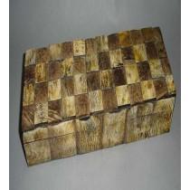 Medium Golden Brown Finish Jewellery Box