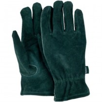 Medium Green Washable Leather Gloves