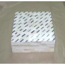 Medium Rectangle Bone and Wooden Jewellery Box