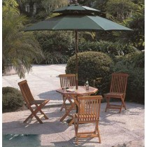 Medium Wooden Double Tops Umbrella
