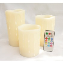 Driping Melted LED Candles With Remote Control