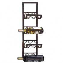 Metal 4 Bottle Wall Mounted Wine Rack