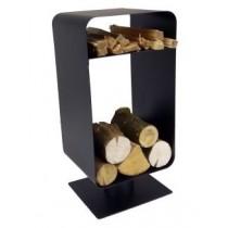 Metal Black Fireside Log Holder