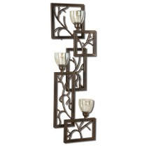 Metal Branches Design Wall Candle Sconce