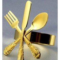 Metal Brass Gold Plated Napkin Ring 2.5Cm