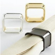 Metal Brass Napkin Ring Set of 3 Pcs