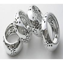 Metal Brass Ring Shaped Napkin Ring 4 Pcs Set