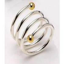 Metal Brass Spiral Napkin Ring 4cm