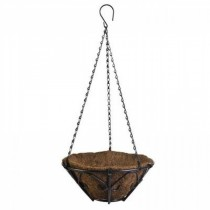 Metal Bronze Finish Hanging Basket