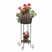 Metal Bronze  Plant Stand 21 Inch