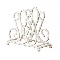 Metal Cream Finish Napkin Holder
