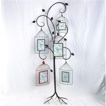 Metal Curved Stand With Hanging Metal Photo Frame
