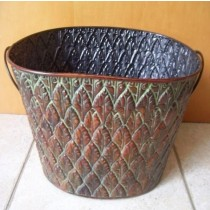 Designer 15 Inch Metal Oval Planter