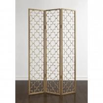 Metal Gold 3 Panel Folding Screen