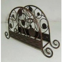 Metal Iron Copper Antique Napkin Holder