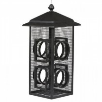 Metal Mesh Black Color Finish Hanging Bird Feeder