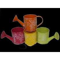 Metal Multi Colored Designer Watering Cans